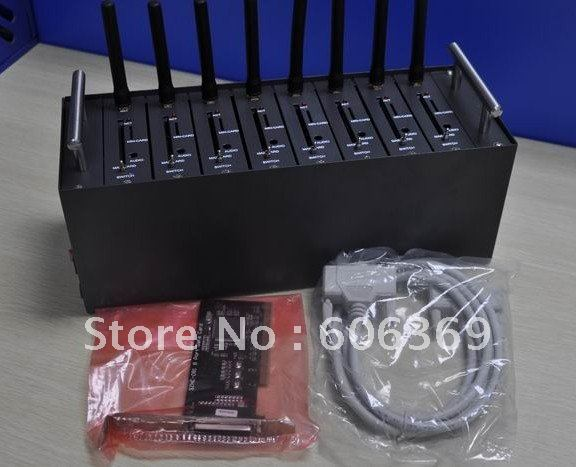GPRS modem pool for siemens original MC56 module 8ports GPRS gateway Quad band 25% shipment off