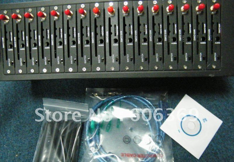 GPRS modem pool for wavecom Q2303 original module 16ports  gateway 25% shipment off
