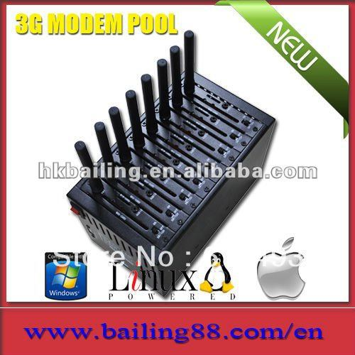 8 port modem pool Q2406,3g modem pool,bulk sms modem pool,start your marketing here,USB 2.0 interface