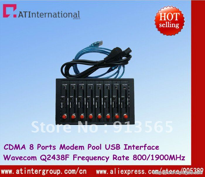 3G Wireless 8 ports GSM/GPRS Modem Pool Q2438F Module USB Interface