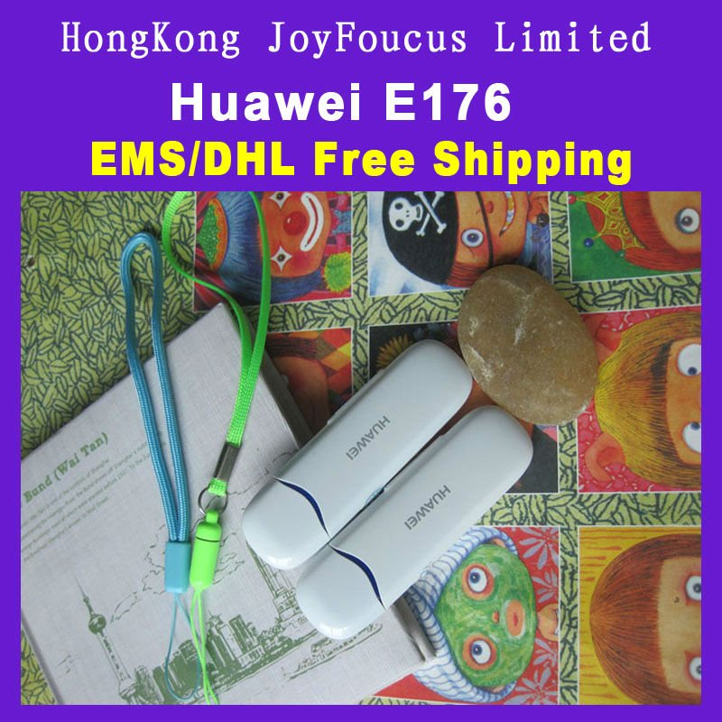 10piece EMS/DHL Free shipping Brand New Huawei E176 Usb Hsdpa 3G Wireless Modem 7.2Mbps Dropshipping Wholesale