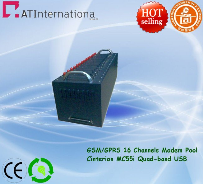Dual-band GSM/GPRS Modem Pool With Cinterion MC55i Module USB For Bulk SMS&MMS