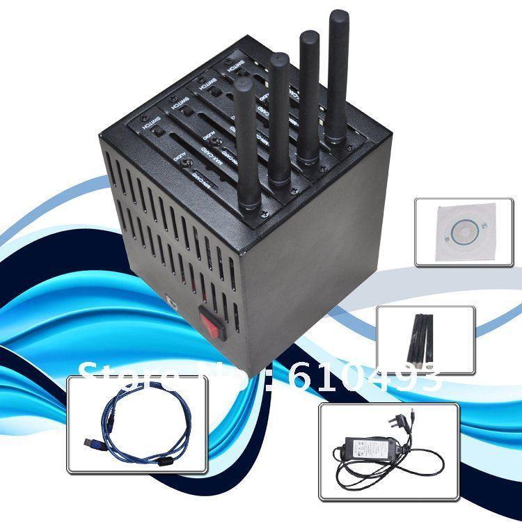 Newest arrival! 4 port modem pool base on wavecom Q2406 module ,Free shipping