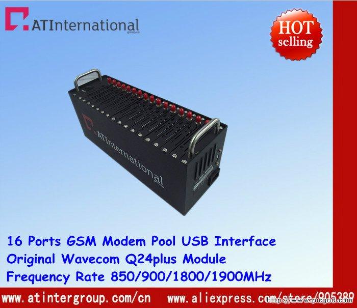 USB 16 Ports Wavecom Q24plus Quad-band Modem Pool Without TCP/IP Protocol