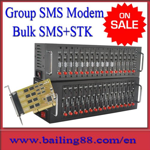 BAILING Q2403 module 16 port group sms modem TCP/IP stack STK support
