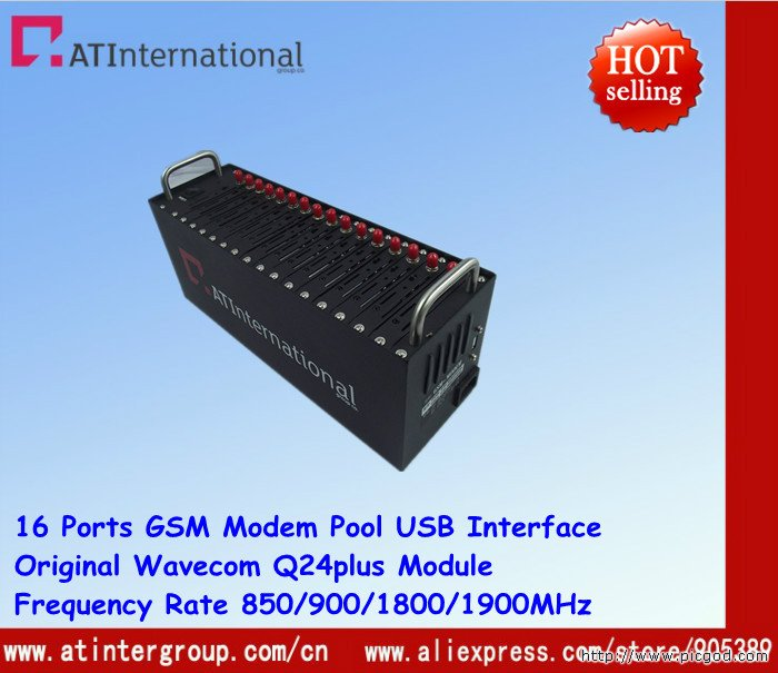 TCP/IP Q24plus 16 Ports GSM/GPRS Modem Pool AT Command & Free Software & Facctory Price