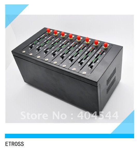 high tech 8 ports gprs gsm wireless modem pool 850/900/1800/1900Mhz 1 year warranty
