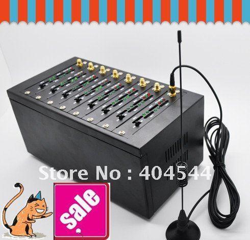 8 ports 8 sims GPRS GSM modem 900/1800MHz, 850/1900Mhz