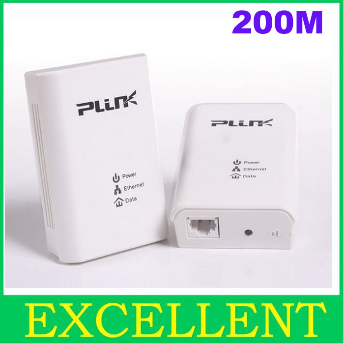 PLINK 200Mbps PowerLine Homeplug Ethernet Network Adapter,support dropshipping