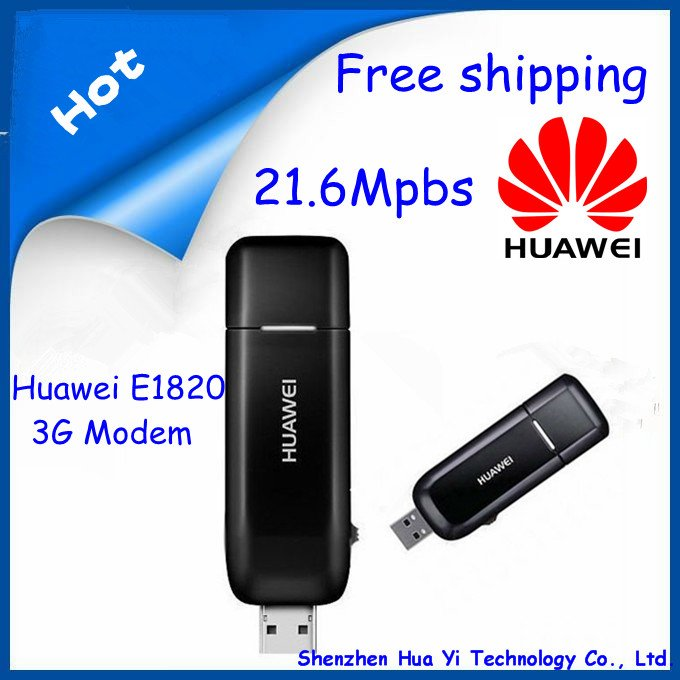 EMS Free Shipping!Huawei E1820 3G USB Wireless Modem 21.6M Support CE And External Antenna Free shipping