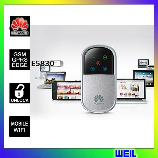 Unlocked HUAWEI E5830  Wireless  WIFI 3G Router Download 7.2Mbps free shipping WEIL