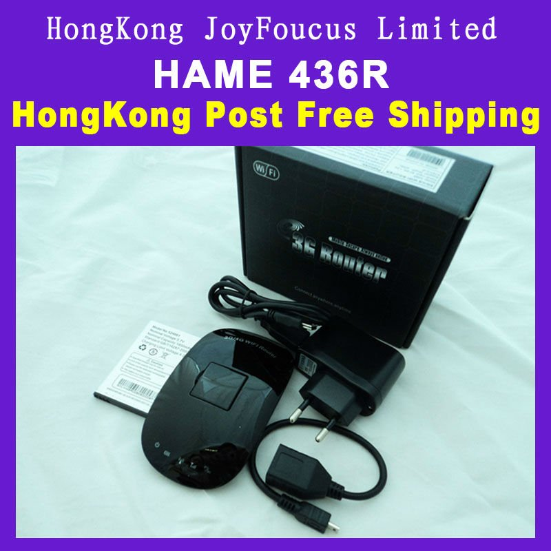 Free Shipping HAME designed with portable 3G/4G router wireless router and3G A8WIFI plug-and-play
