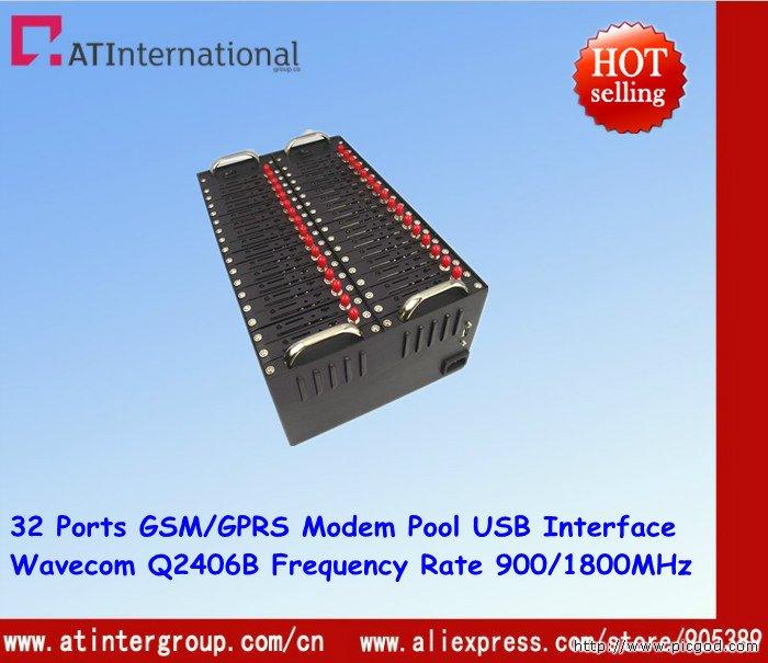 Wavecom Q2406B 32 Ports GSM/GPRS Modem Pool USB Interface