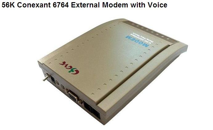 56K Conexant 6764 External Modem with Voice and fax- free shipping