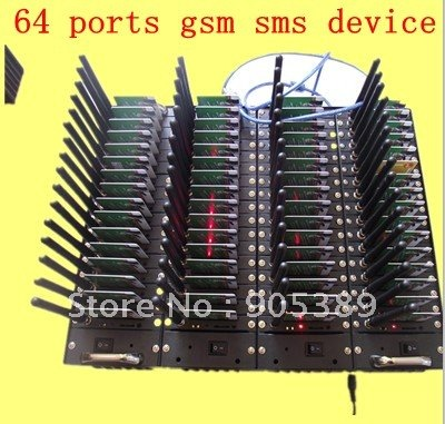 64 Ports 2403 usb sms gsm gprs sending Modem Pool with free sms software