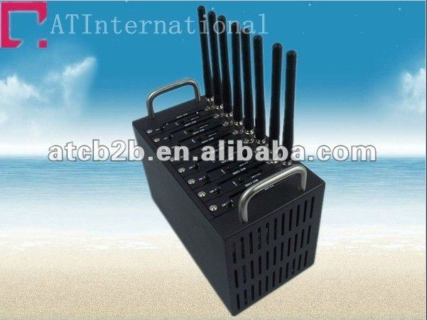 2012 New 8 Ports wirelessQ2403 gsm/gprs Modem industrial grade factory supply