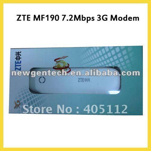 ZTE MF190 7.2Mbps 3G Modem