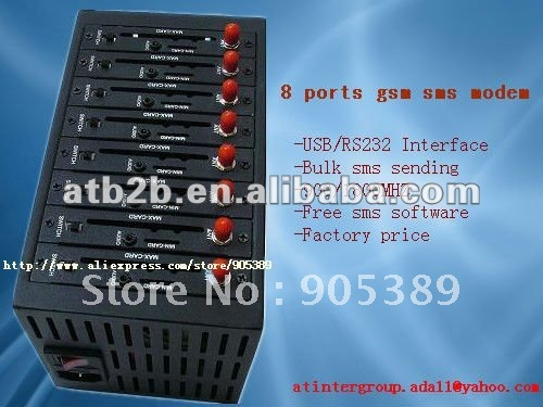hotselling 8 ports gsm sms modem with factory price 2303