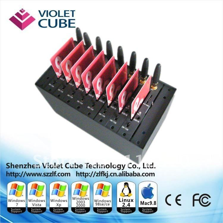 Wavecome gsm modem/8 Ports gsm modem pool for bulk sms sending/best internet modem