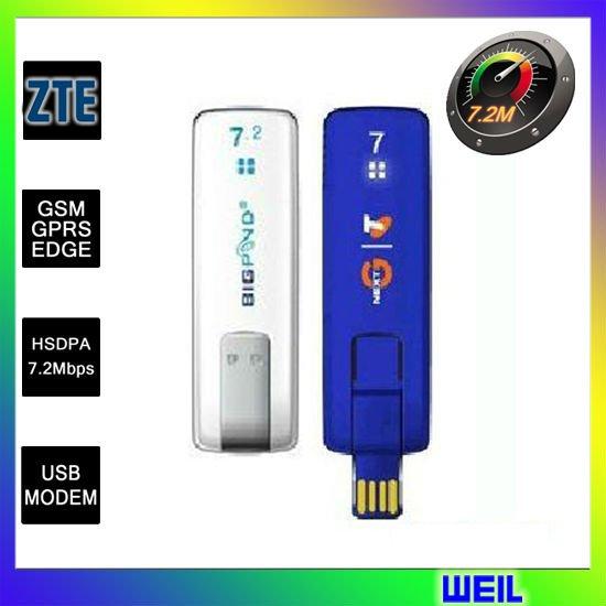 Unlocked 7.2Mbps HSDPA USB Data Card, 3G Wirless modem ZTE MF633 free shipping WEIL