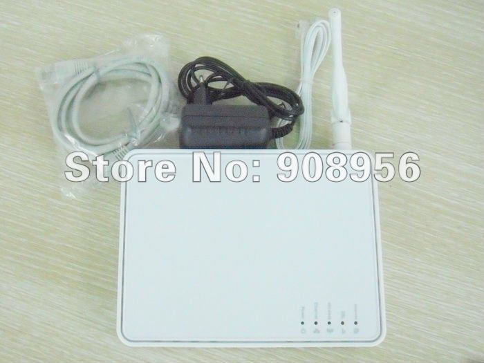 4 Port 54Mbps 2.4 GHZ 802.11 b/g Wireless ADSL2+ Modem Router, Full speed, auto-sense ADSL 2+ routing, bridging , fast shipping
