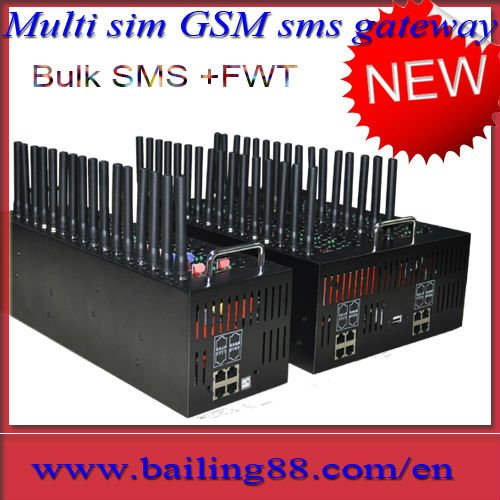 Multi 64 sim 16 port GSM sms gateway modem pool for Bulk sms and Voip function,sms software inside,free shipping