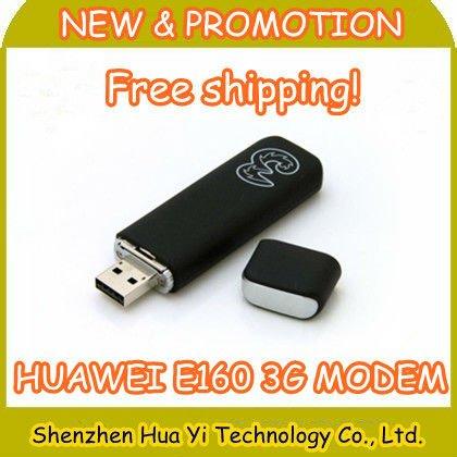 EMS Free shipping! Hot sale Huawei E160 3G Wireless USB Modem,3G Wireless Network Card,20pcs/lot