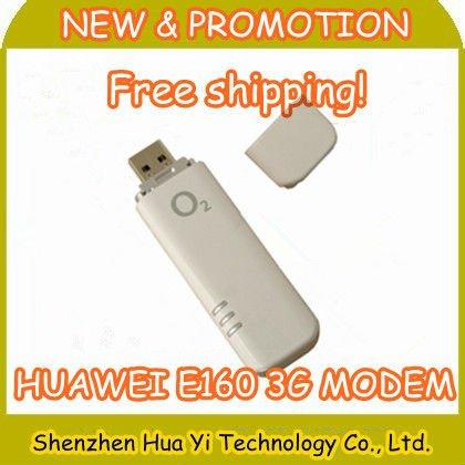 China Post Free shipping!Unlocked Huawei E160 E160G HSDPA 3G Modem 3G USB Modem Dongle Stick antenna Mobile broadband,3pcs/lot