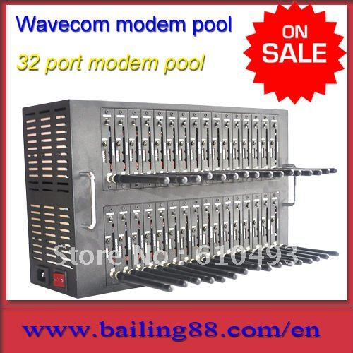 Bailing wavecom modem pool 32 port with Q2403A module for group sms