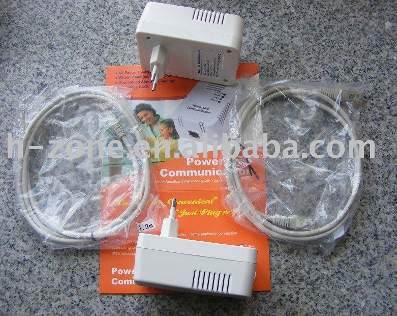 Free shipping !!! 200M power line communication,PLC home plug adapter