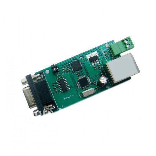 Freeshipping Serial RS232 to Ethernet TCP IP converter module serial device server