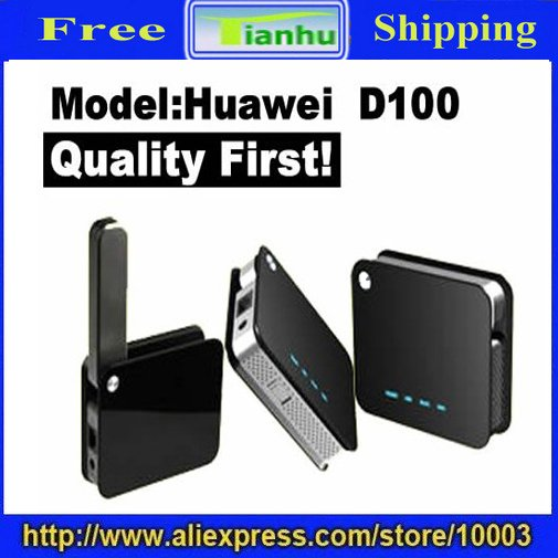 Free Shipping Huawei D100 Wireless Router,Support WLAN-hot sale
