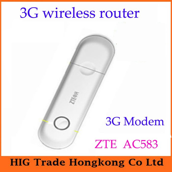 Wholesale ZTE AC583 3G Wireless Modem 3G router  Adapter for PC Tablet  CDMA  USB Port