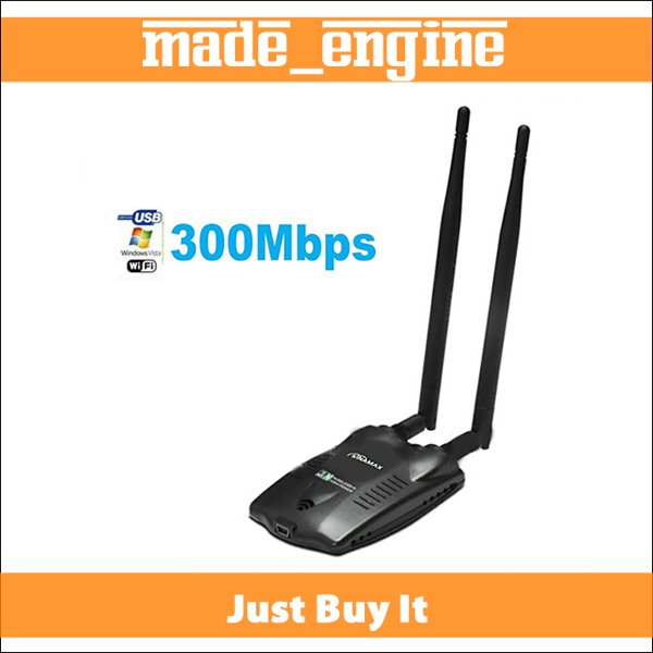 Free Internet Password Cracking KINAMAX High-Power 500MW 300Mbps MIMO 2 Antenna Wireless-N WiFi WLAN USB Adapter Card
