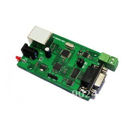 RS232 RS485 serial to TCP/IP ethernet server module converter ( ethernet to RS232 modue) rs232 ethernet converter