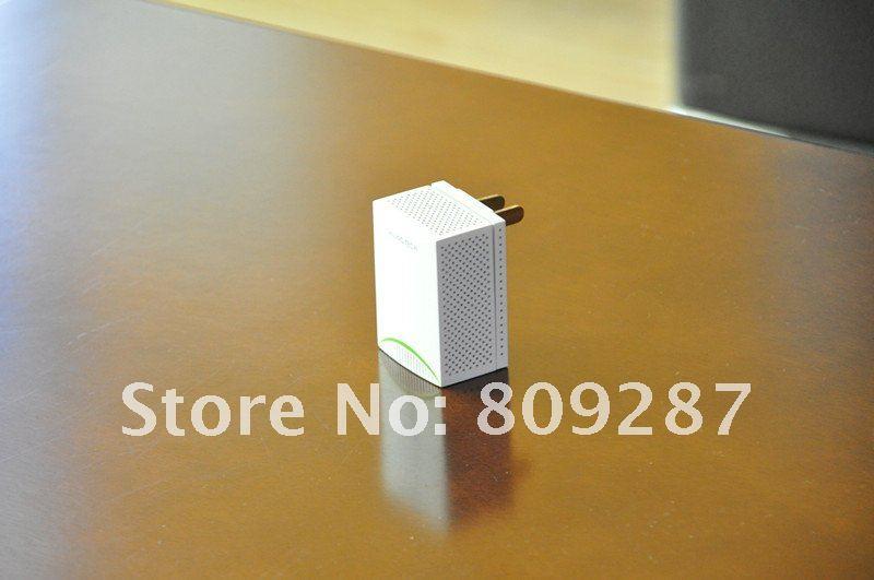 White 200M homeplug powerline network Adapter mini