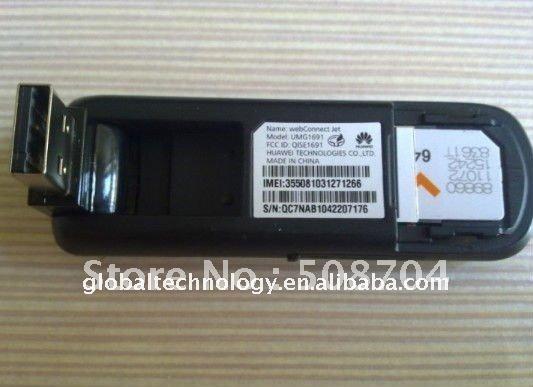 Unlock Huawei UMG1691 7.2Mbps HSDPA GSM 3G USB Modem