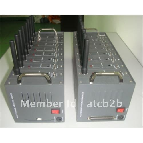 Cost effective gsm gprs 8 port modem pool with STK and TCP/IP stack