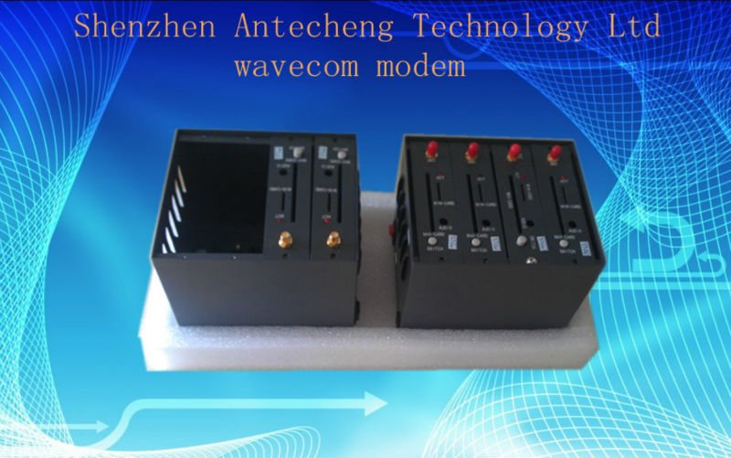 Mini 4 port  wavecom modem pool Q2403