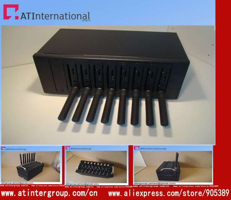 mini size hotselling 8 ports q2406 usb gsm modem with fast shipping