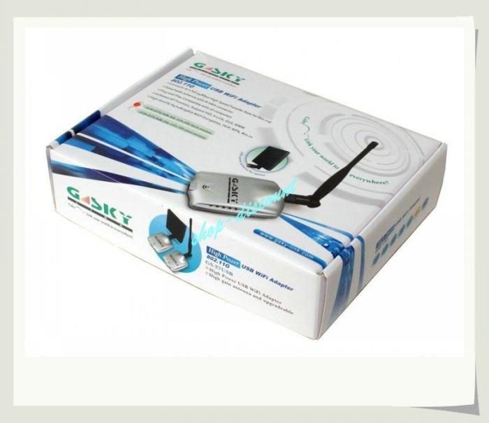 10pcs/lot New G-SKY GS-27USB 54M USB Wireless 802.11G WiFi LAN Adapter,wifi usb adapter.usb wireless adapter + free shipping