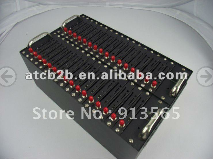 2012 hot sale Quad band 32 ports wireless Q24plus GSM/GPRS modem support send SMS and Recharge