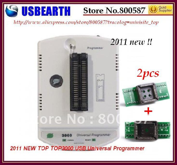 Free Shipping 2011 NEW TOP3000 USB Universal Programmer MCU PIC AVR 51,hot sale, quality assurance 1 year