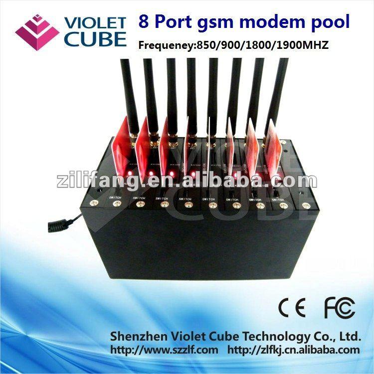 GSM/GPRS bulk sms modem pool, WAVECOM Q2403A module,8 ports usb interface