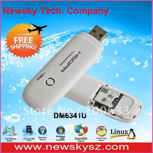 Hot 7.2Mbps HSDPA Wireless 3G Modem DM6341U