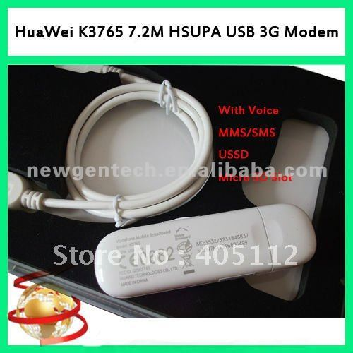 HSPA Usb modem HUAWEI k3765 with voice sms mms