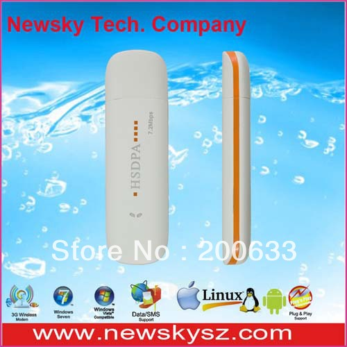 7.2Mbps High Speed Qualcomm MSM6280 USB Modem 3G DM6344U Support USSD & PC Voice & TF Card