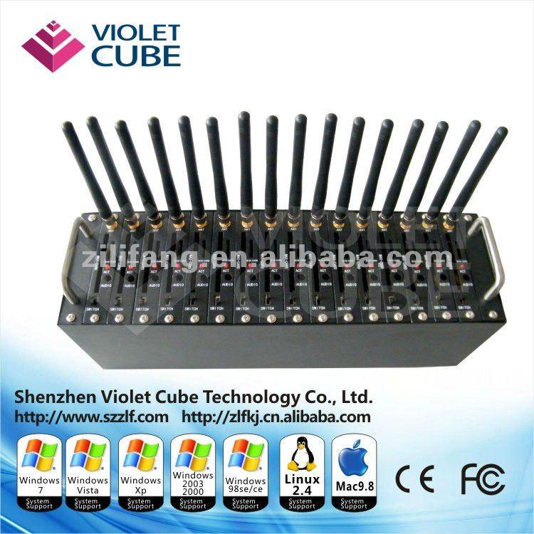 16 Ports GSM Modem for bulk sms/mms,USB interface gsm modem  Q2406      -  ZLF01