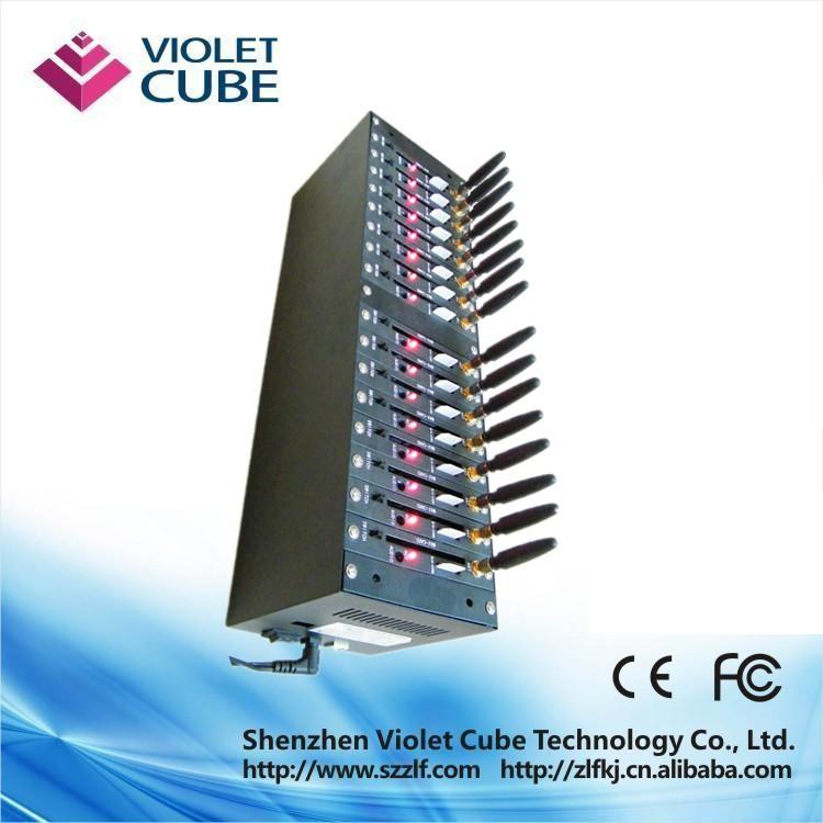 GSM modem 16 ports USB interface,serial gsm module/sms modem pool Q2406      - ZLF01
