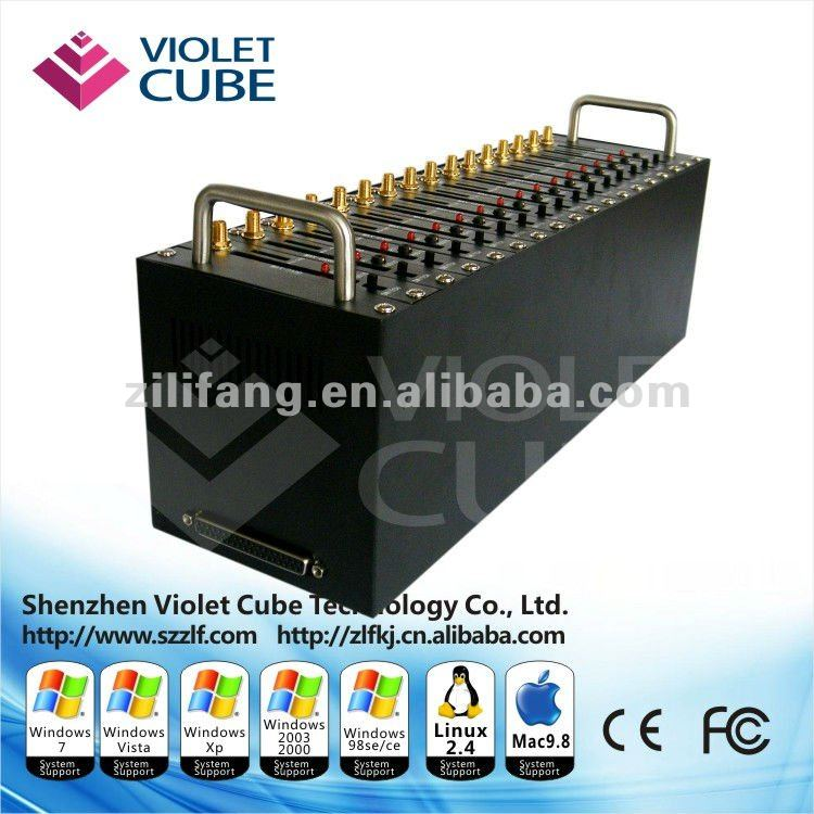Hotselling 16 ports sim slots gsm sms modem pool--wavecom q24plus with factory price ZLF01